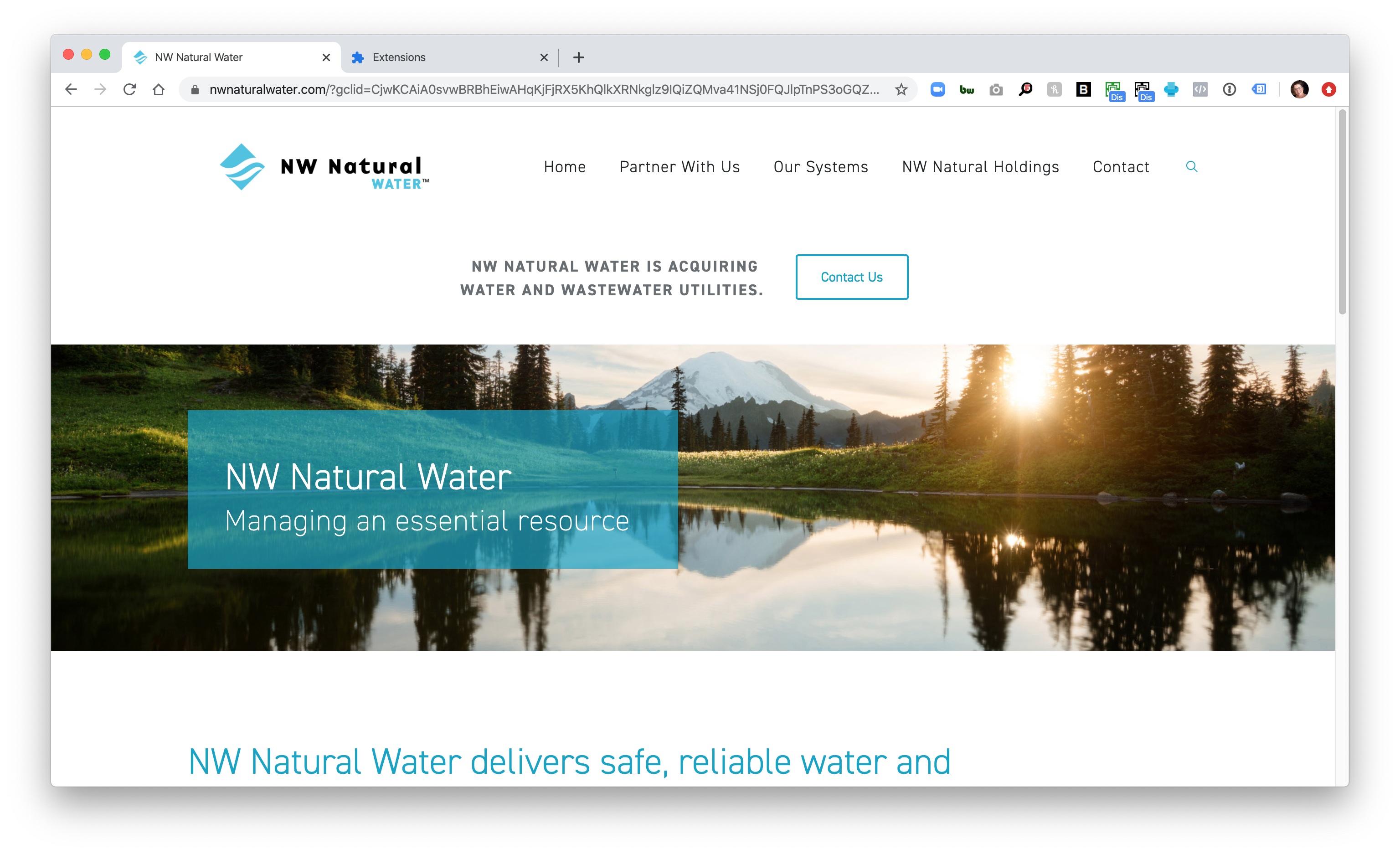 NWNatural Water Home Page